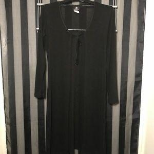 Vintage Sheer Black Duster